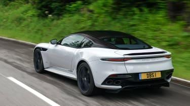 Aston Martin DBS Superleggera rear 3/4 tracking