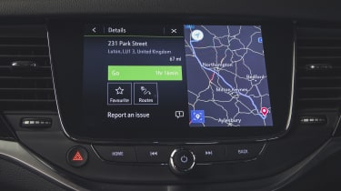 Vauxhall Astra hatchback infotainment