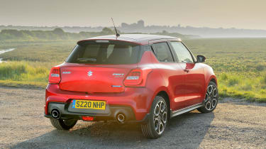 Suzuki Swift Sport mild-hybrid rear view