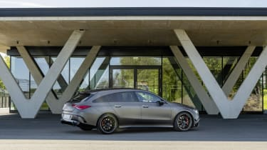 2019 Mercedes-AMG CLA 45 S Shooting Brake - static side rear view