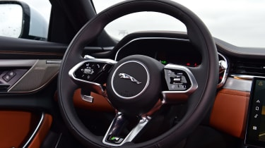 Jaguar XF saloon steering wheel