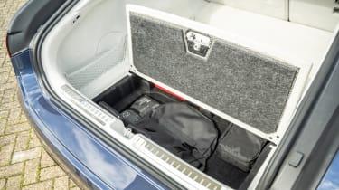 Mercedes EQS hatchback boot underfloor storage