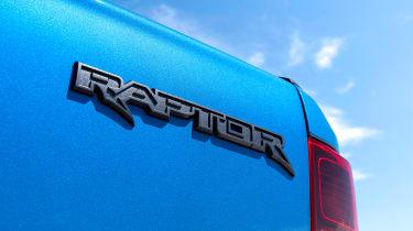 Ford Ranger Raptor pickup rear badge