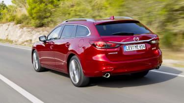 Mazda6 Tourer driving - rear
