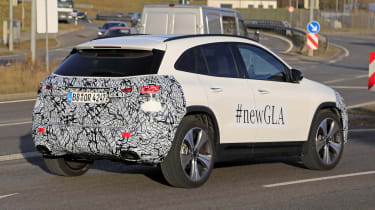 Mercedes GLA spy shot - rear
