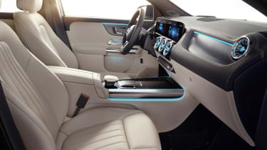 Mercedes GLA interior in beige - side view
