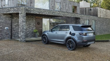 Land Rover Discovery Sport P300e charging - rear view