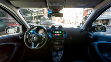Smart EQ ForFour hatchback interior