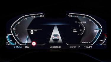 BMW iX3 SUV dashboard instruments