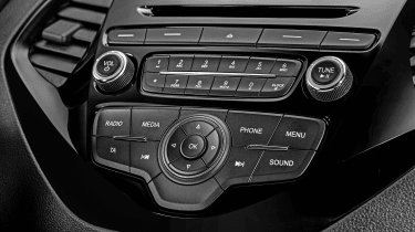 Ford offers its 'MyKey' as an option, which lets parents limit the stereo volume and keep the Ka+'s safety systems active