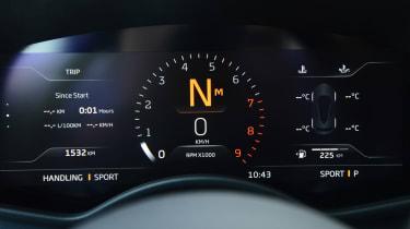McLaren GT digital dials