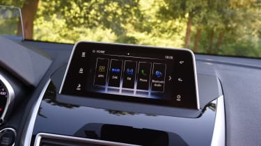 A seven-inch touchscreen is standard on the Eclipse Cross, though sat nav won't appear on all trim levels