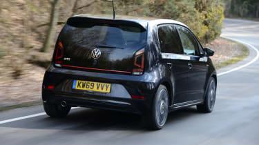 Volkswagen up! GTI hatchback rear 3/4 tracking