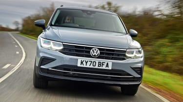 Volkswagen Tiguan SUV front tracking