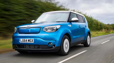The Kia Soul EV offers five-seat practicality and rock-bottom running costs