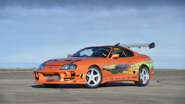 As the hero car of the first of many Fast & Furious films, this bright orange Toyota Supra has become a film icon.