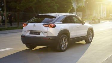 Mazda MX-30 driving - rear view