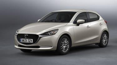 Mazda2 - Platinum Quartz Metallic front 3/4 static