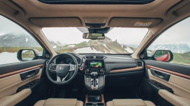 Soft-touch materials, contrasting trim and a new infotainment system add some design flair inside