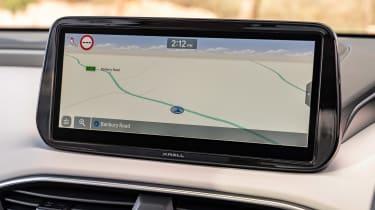 Hyundai Santa Fe SUV infotainment display