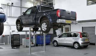Main dealer car servicing