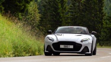 Aston Martin DBS Superleggera cornering