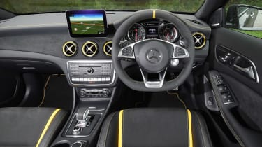 Choose the GLA 45 AMG Yellow Night Edition and the interior and exterior get yellow highlights