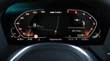BMW M135i xDrive - digital instrument cluster