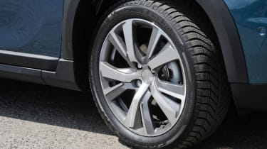 Low-profile tyres hint at tarmac being the 2008's natural domain
