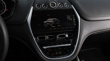 Aston Martin DBX prototype touchscreen