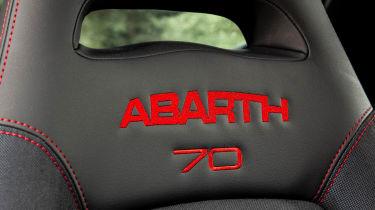Abarth 595 Esseesse seat detailing