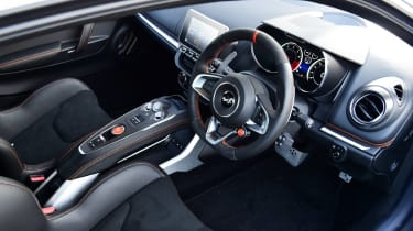 Alpine A110S interior - top view