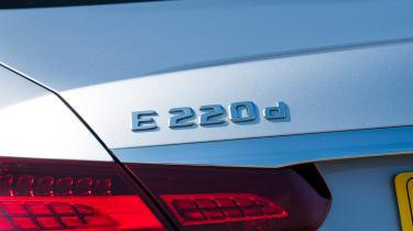 Mercedes E-Class saloon rear badge