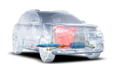 Citroen C5 Aircross plug-in hybrid - petrol engine, electric motor and battery setup