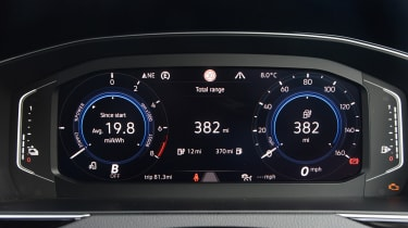 Volkswagen Passat GTE Estate digital instrument cluster - info view