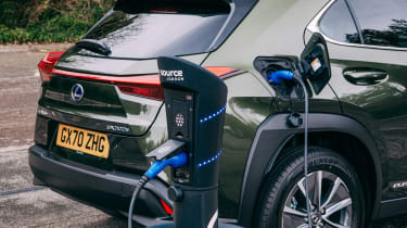 Lexus UX 300e SUV charging
