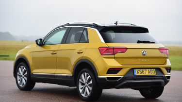 Volkswagen T-Roc SUV rear 3/4 static
