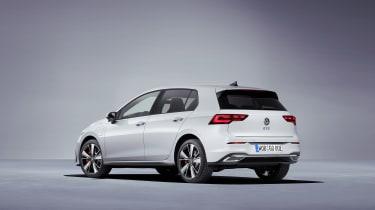 2020 Volkswagen Golf GTE - rear 3/4 view