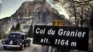 Citroen 15 Six 1950 on the Col du Granier France (1992)