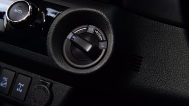 Toyota Hilux pickup four-wheel drive selector