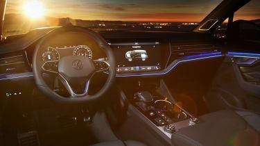 Volkswagen Touareg R interior at dusk