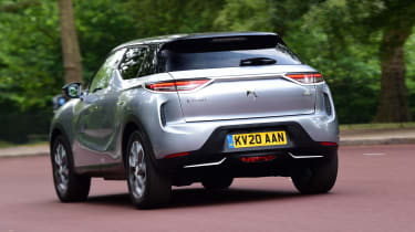 DS 3 Crossback E-Tense SUV rear 3/4 tracking