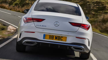 Mercedes CLA saloon tail action