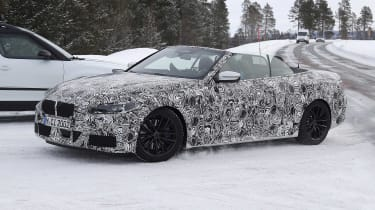 BMW 4 Series Convertible in camouflage