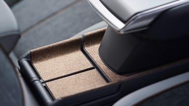 Mazda MX-30 cork-lined storage area