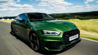 Audi RS5 Sportback front 3/4 tracking