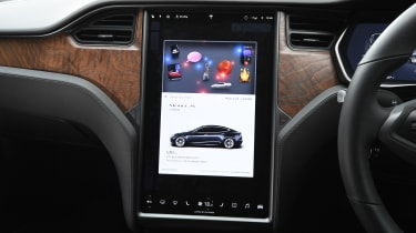 Tesla Model S saloon central display