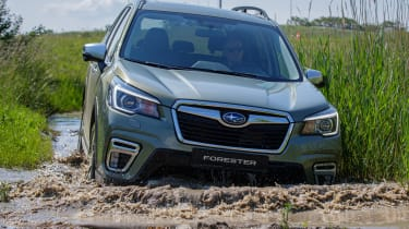 Subaru Forester SUV wading