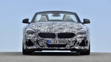 Although heavily disguised, you can still make out styling cues taken from the Z4 Concept.