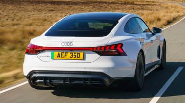 Audi e-tron GT saloon rear 3/4 tracking